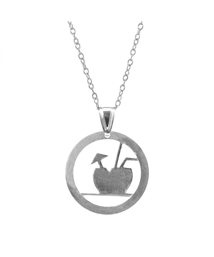 Image for ANCHOR & CREW Fresh Coconut Disc Paradise Silver Necklace Pendant