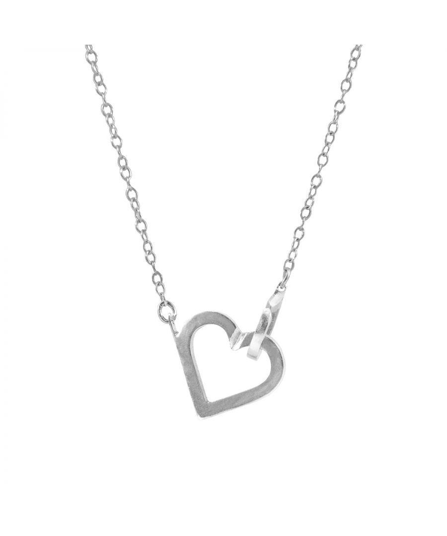 Image for ANCHOR & CREW Little Heart Link Paradise Silver Necklace Pendant