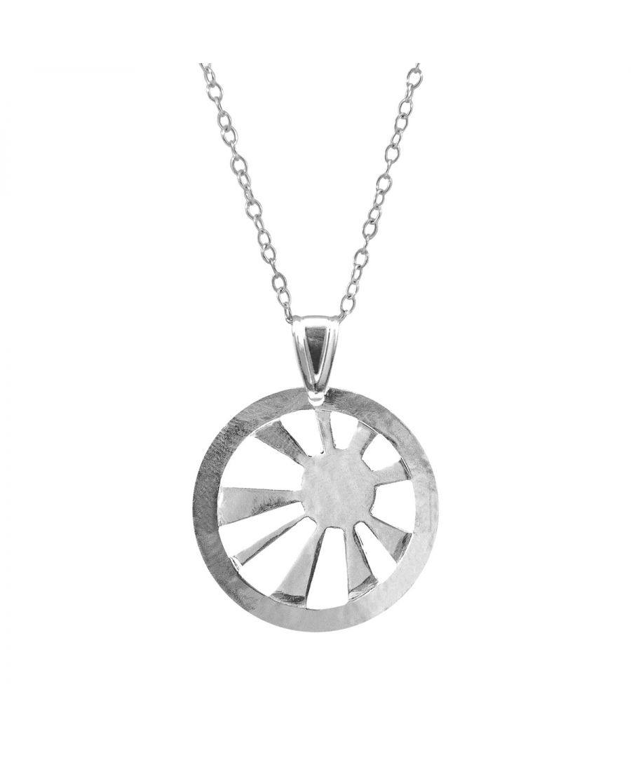 Image for ANCHOR & CREW Sunrise Sunset Disc Paradise Silver Necklace Pendant