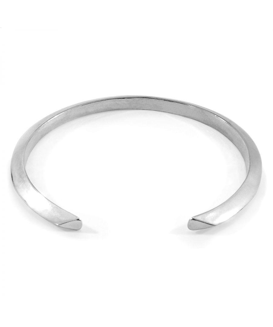 Image for ANCHOR & CREW Benson Triagonal Maxi Wayfarer Silver Bangle