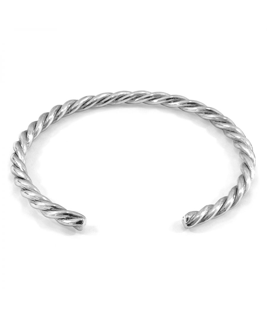Image for ANCHOR & CREW Gammell Full Rope Wayfarer Silver Bangle