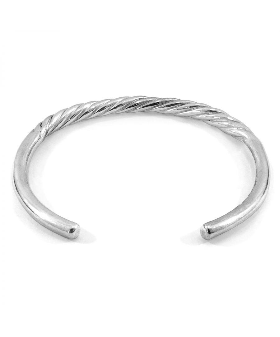 Image for ANCHOR & CREW Haden Half Rope Wayfarer Silver Bangle
