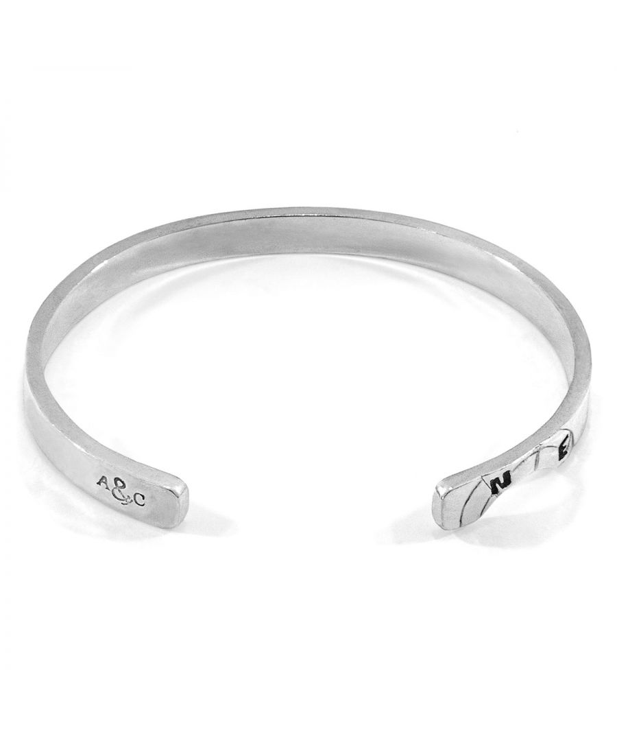 Image for ANCHOR & CREW Russell Compass Cutout Wayfarer Silver Bangle