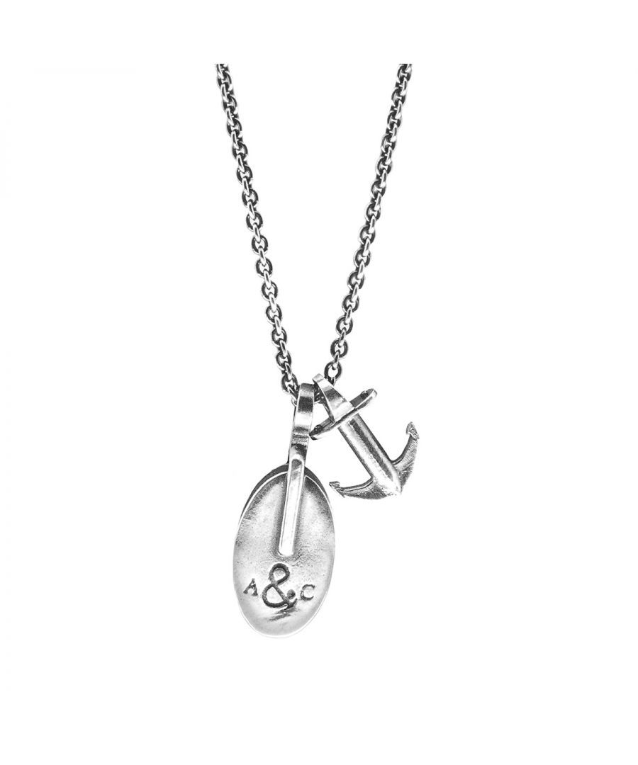 Image for ANCHOR & CREW London Pulley Silver Necklace Pendant