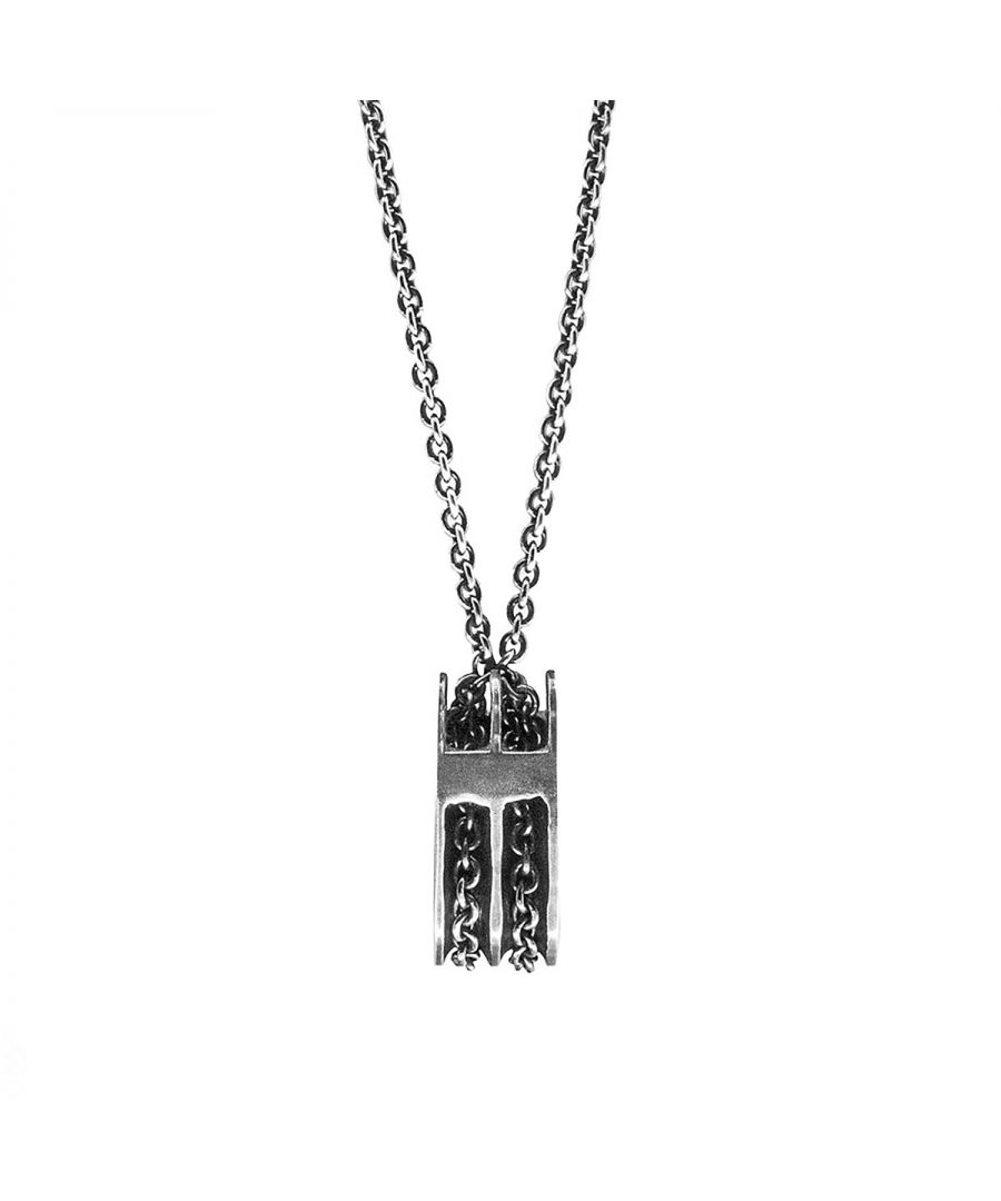 Image for ANCHOR & CREW Rothesay Pulley Silver Necklace Pendant