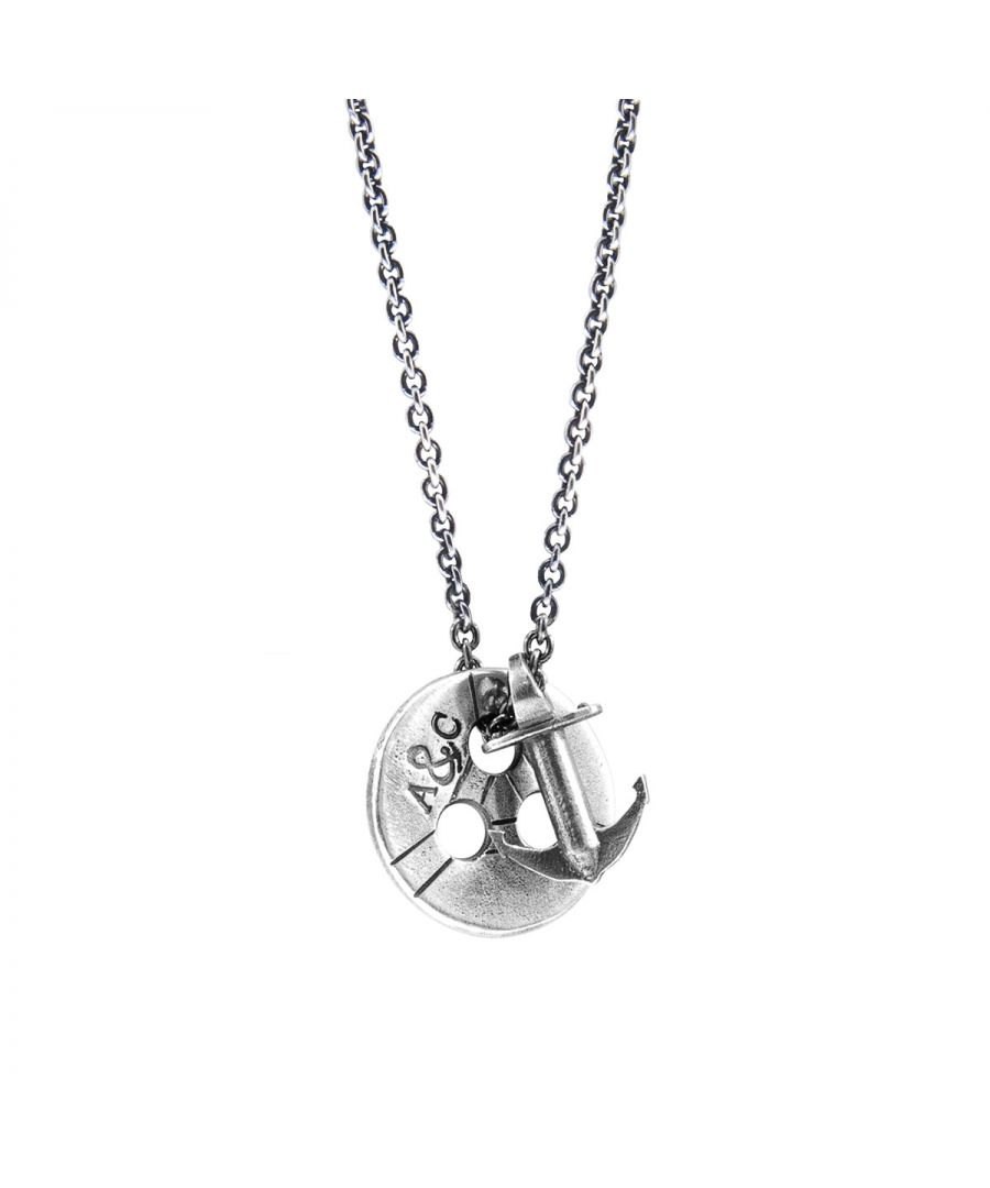 Image for ANCHOR & CREW Lerwick Pulley Silver Necklace Pendant