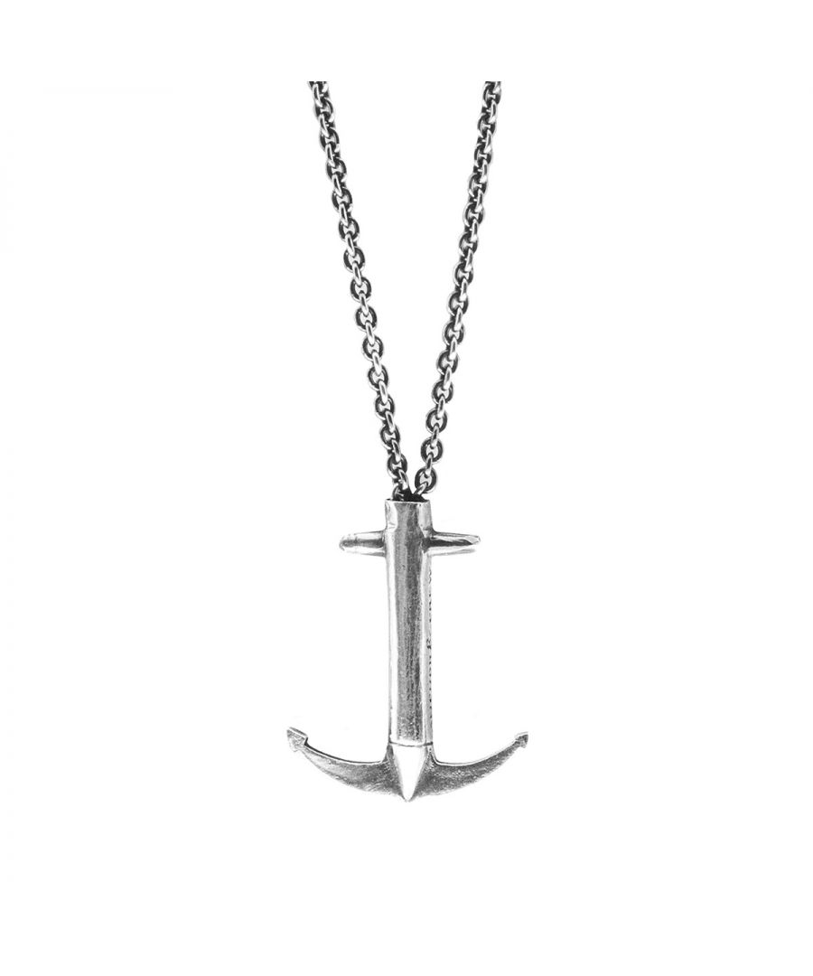 Image for ANCHOR & CREW Admiral Anchor Signature Silver Necklace Pendant