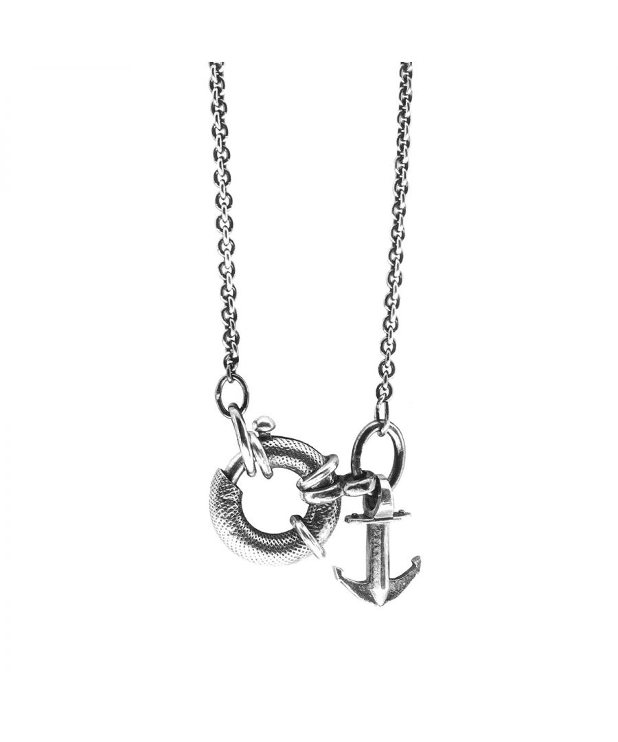 Image for ANCHOR & CREW Clyde Anchor Signature Silver Necklace Pendant