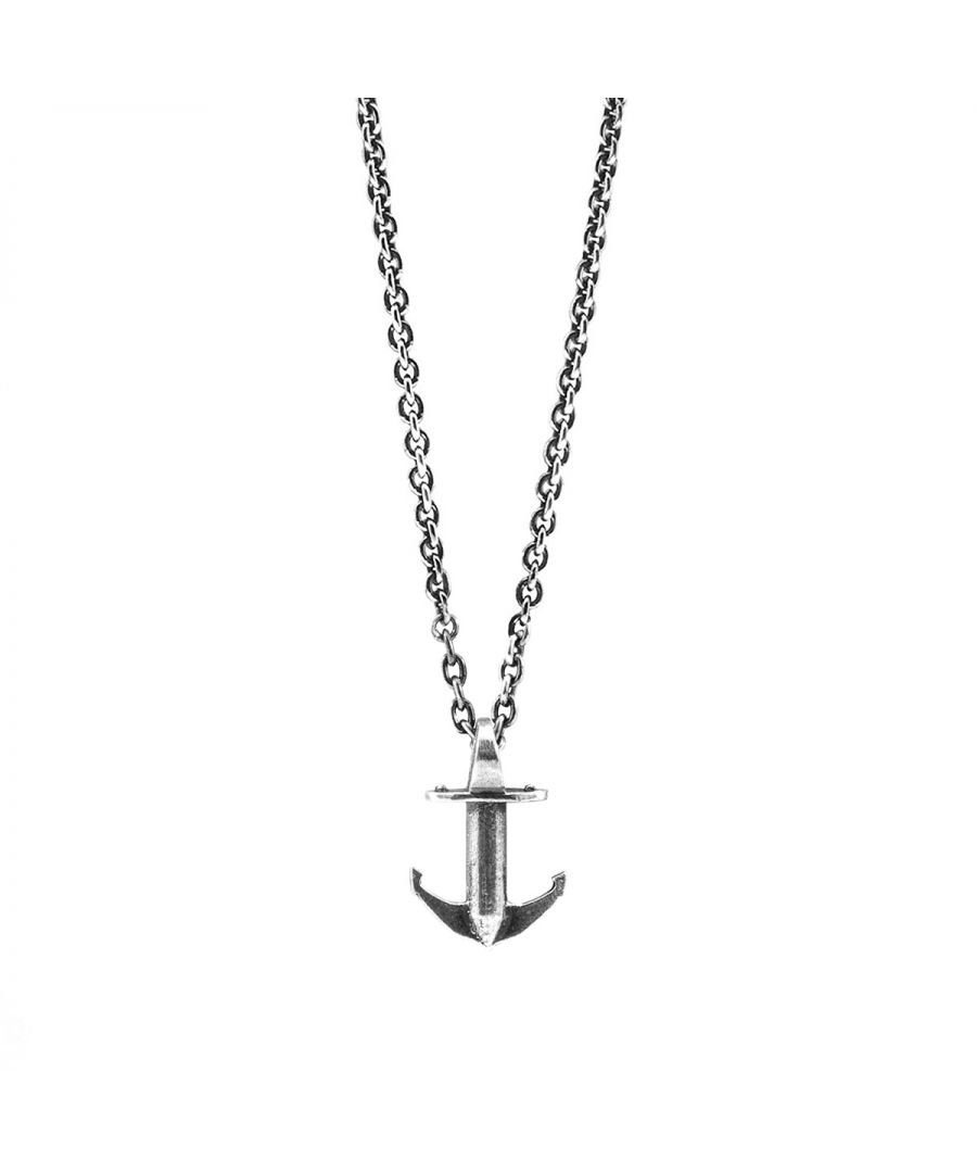 Image for ANCHOR & CREW Mini Anchor Signature Silver Necklace Pendant