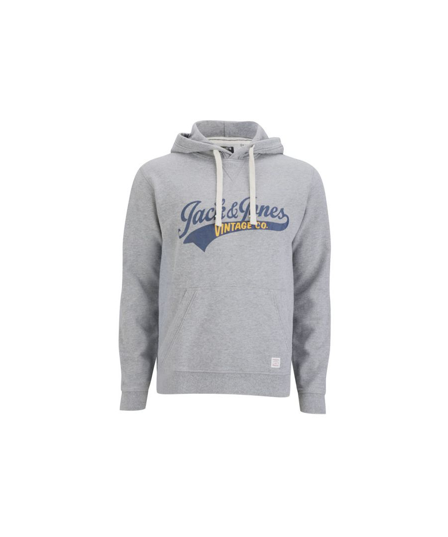 Image for Jack and Jones Access Hood EXP 13 Track & Field Grey Hoodie