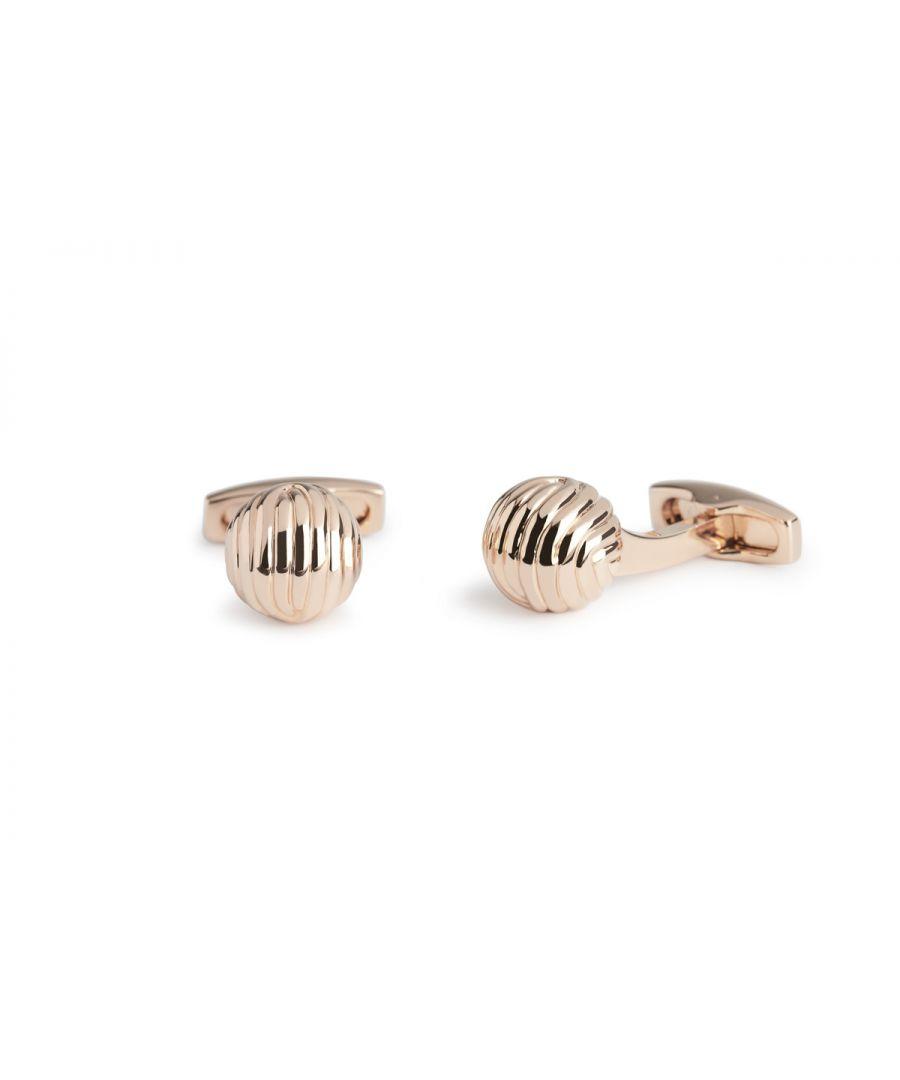 Image for Simon Carter Rose Gold Textured Ball Cufflinks