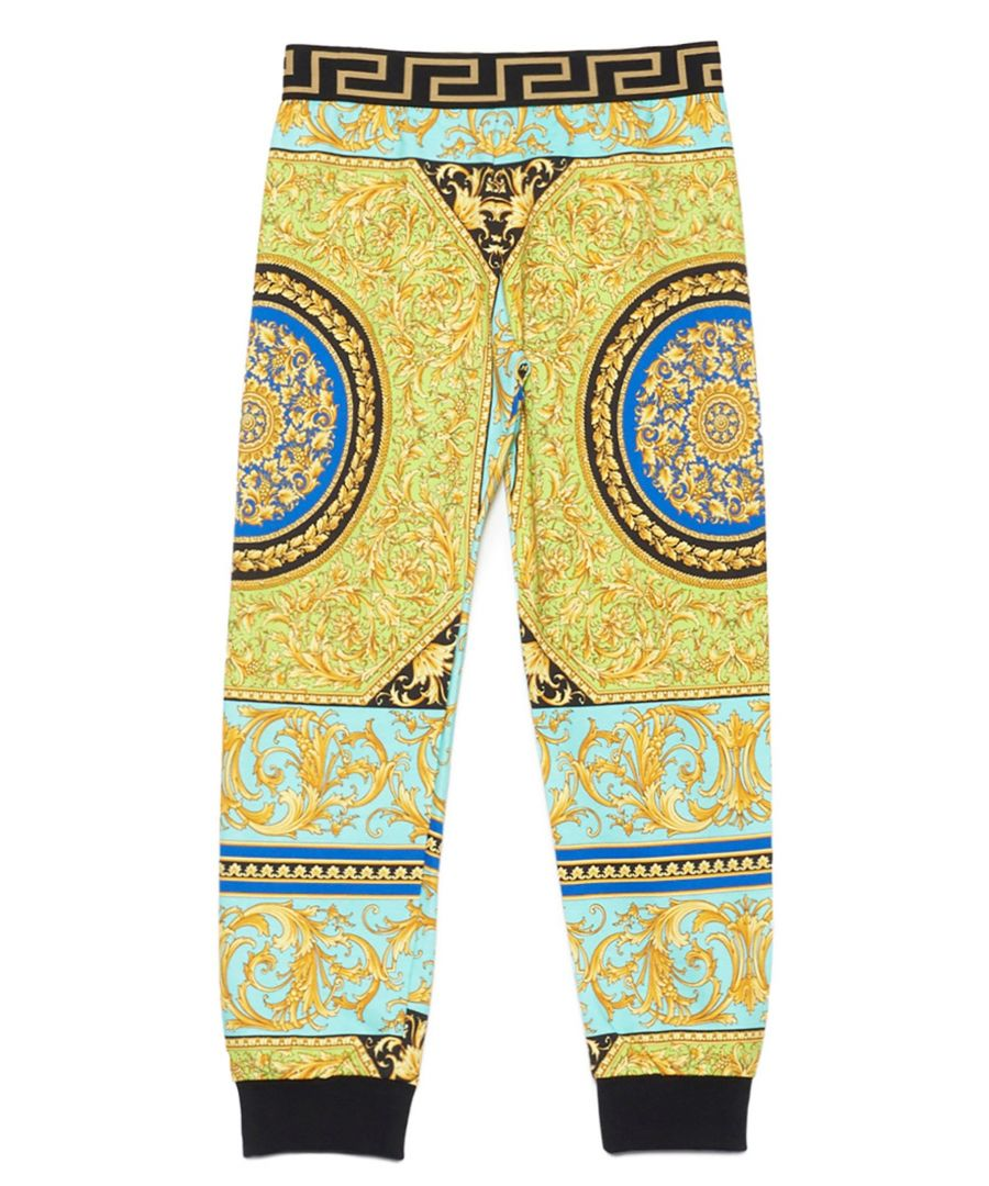 Image for VERSACE BOYS YD000191A232752A7480 GOLD COTTON JOGGERS