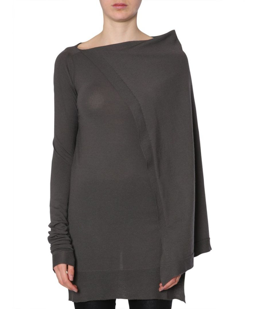 Image for RICK OWENS WOMEN'S RO18F4656WSS78 GREY CASHMERE JUMPER
