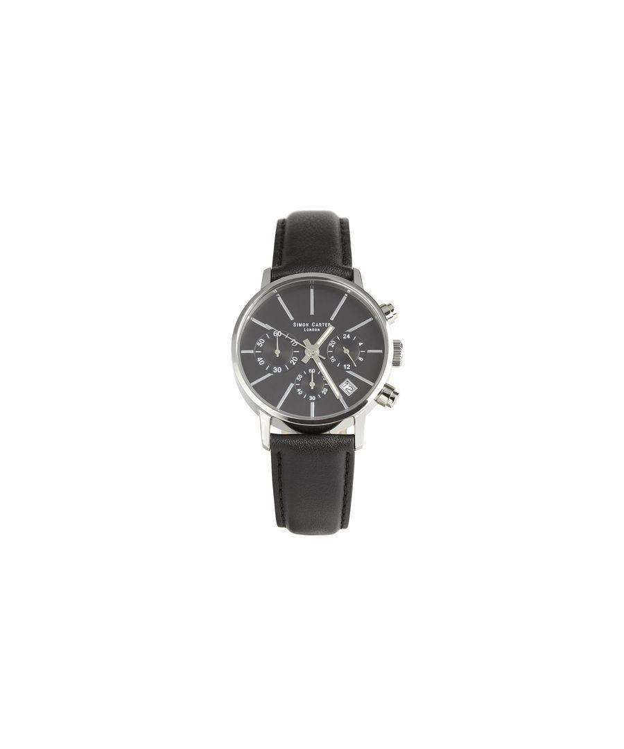 Image for Simon Carter LT001 Chronograph Watch Black