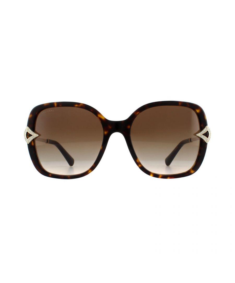 Image for Bvlgari Sunglasses BV8217B 504/13 Dark Havana Brown Gradient