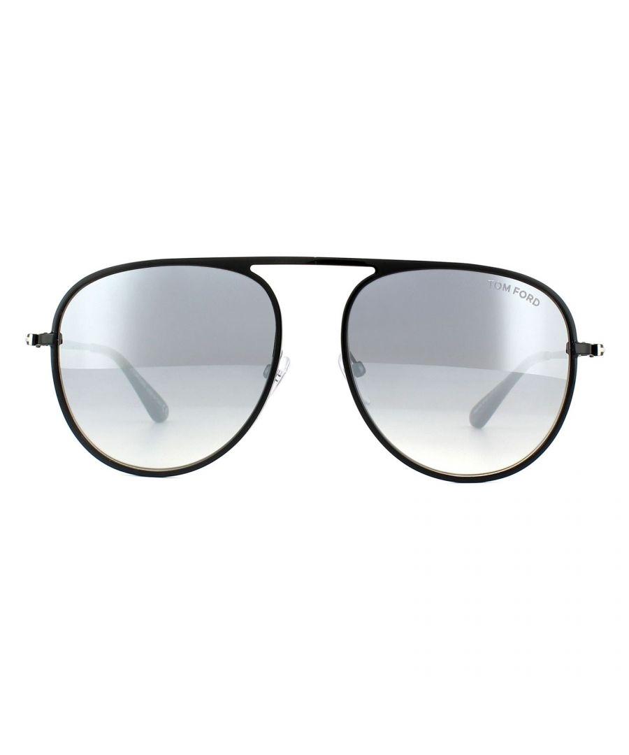 Image for Tom Ford Sunglasses 0621 Jason 01C Shiny Black Smoke Mirror