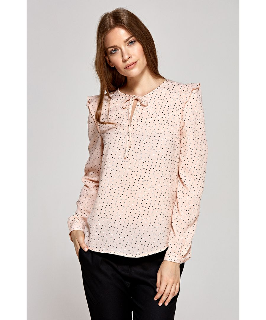 Image for Blouse With Tied Tear On Neckline
