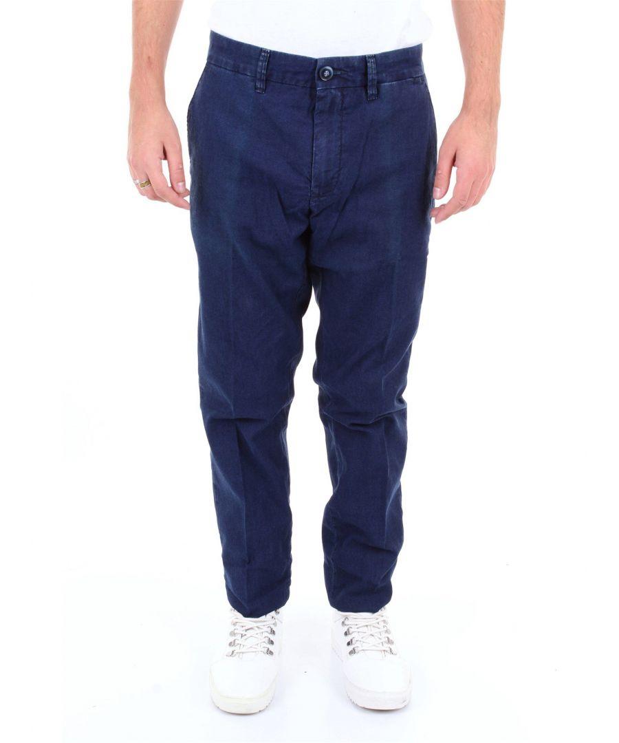 Image for SIVIGLIA MEN'S P0B2N2S434BLUSCURO BLUE COTTON JEANS