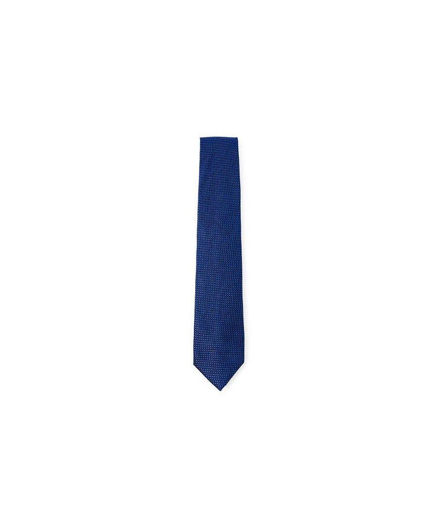 Image for Men's Hackett Mayfair Grenadine Solid Tie in Blue