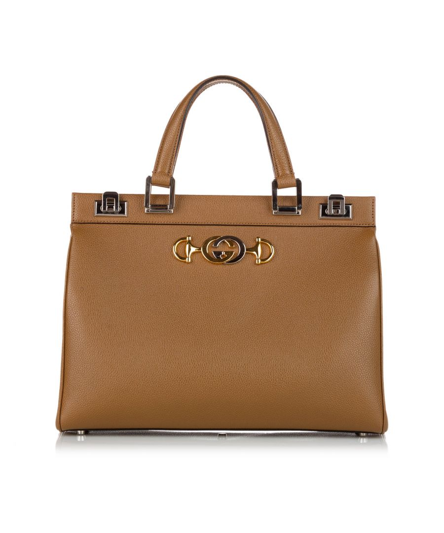 Image for Vintage Gucci Zumi Leather Satchel Brown