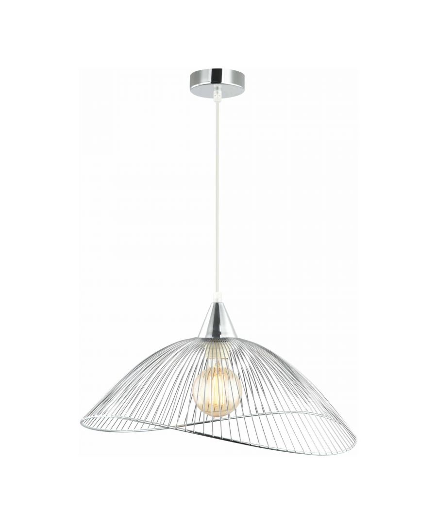 Image for Laurent Polished Chrome Pendant Ceiling Lightshade