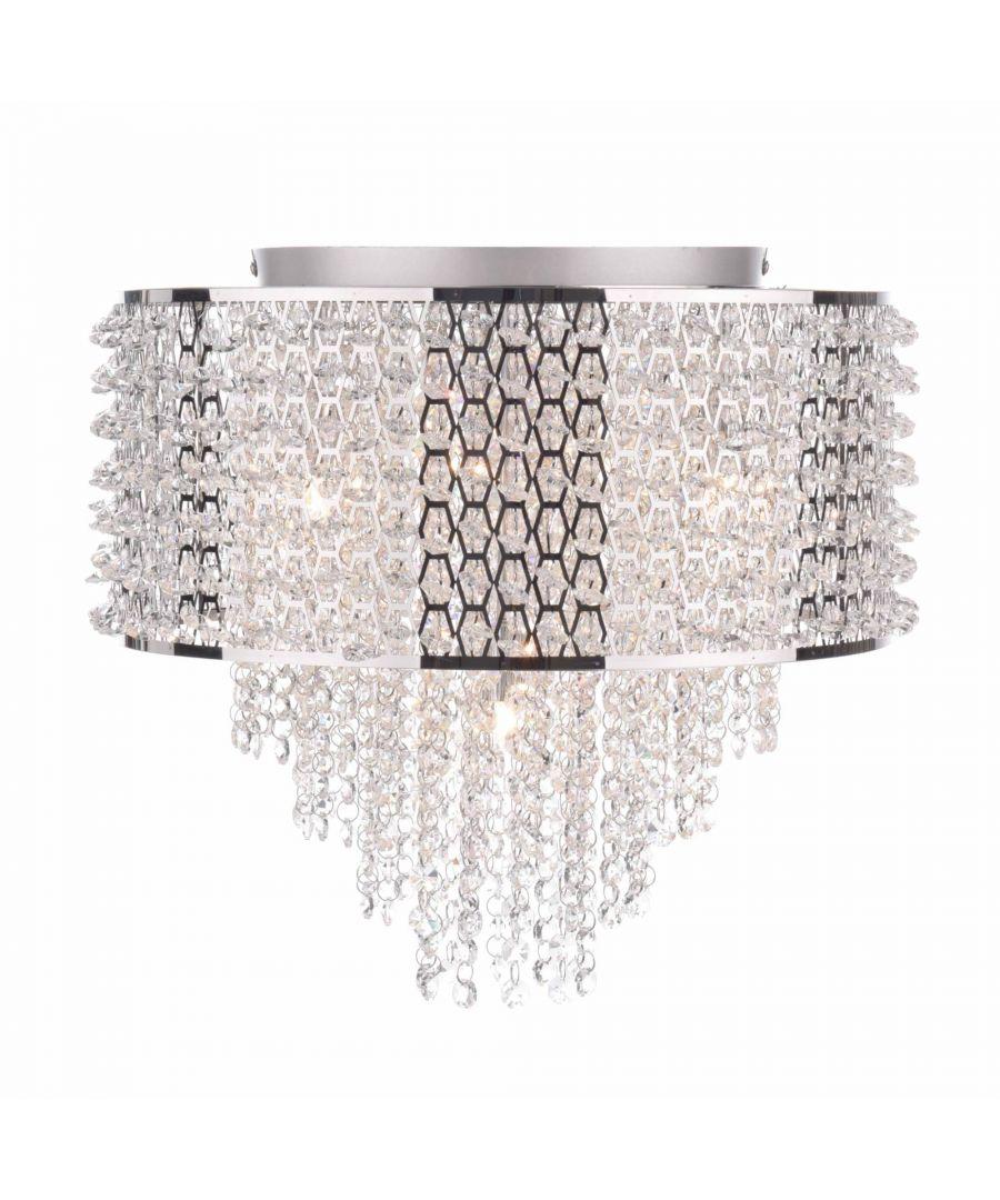 Image for Lisette 4 Semi Flush Ceiling Light