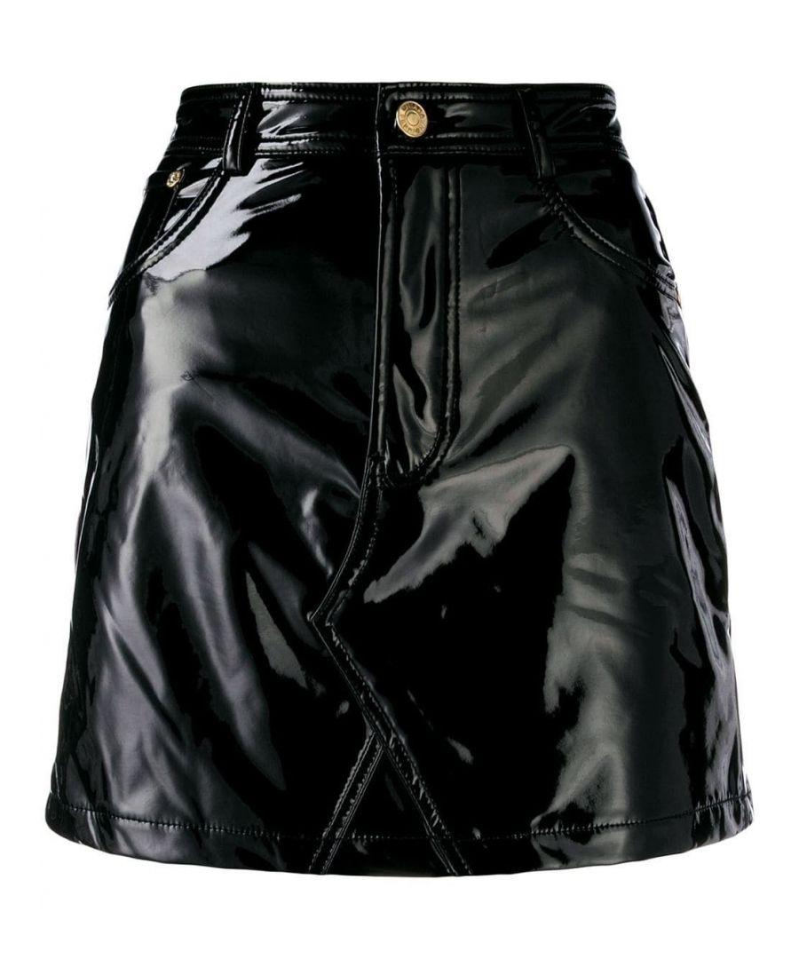 Image for CHIARA FERRAGNI WOMEN'S CFST017BLACK BLACK POLYESTER SKIRT
