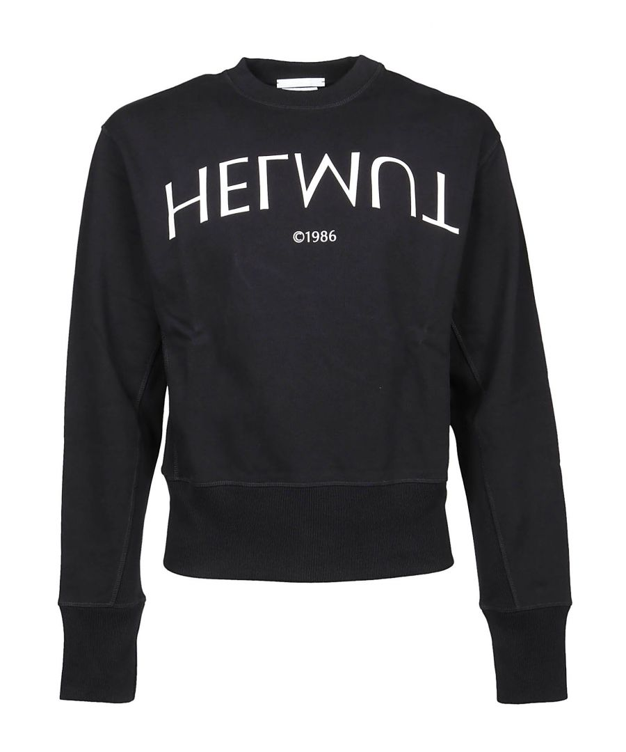 Image for HELMUT LANG MEN'S I09DM506NXU BLACK COTTON SWEATSHIRT