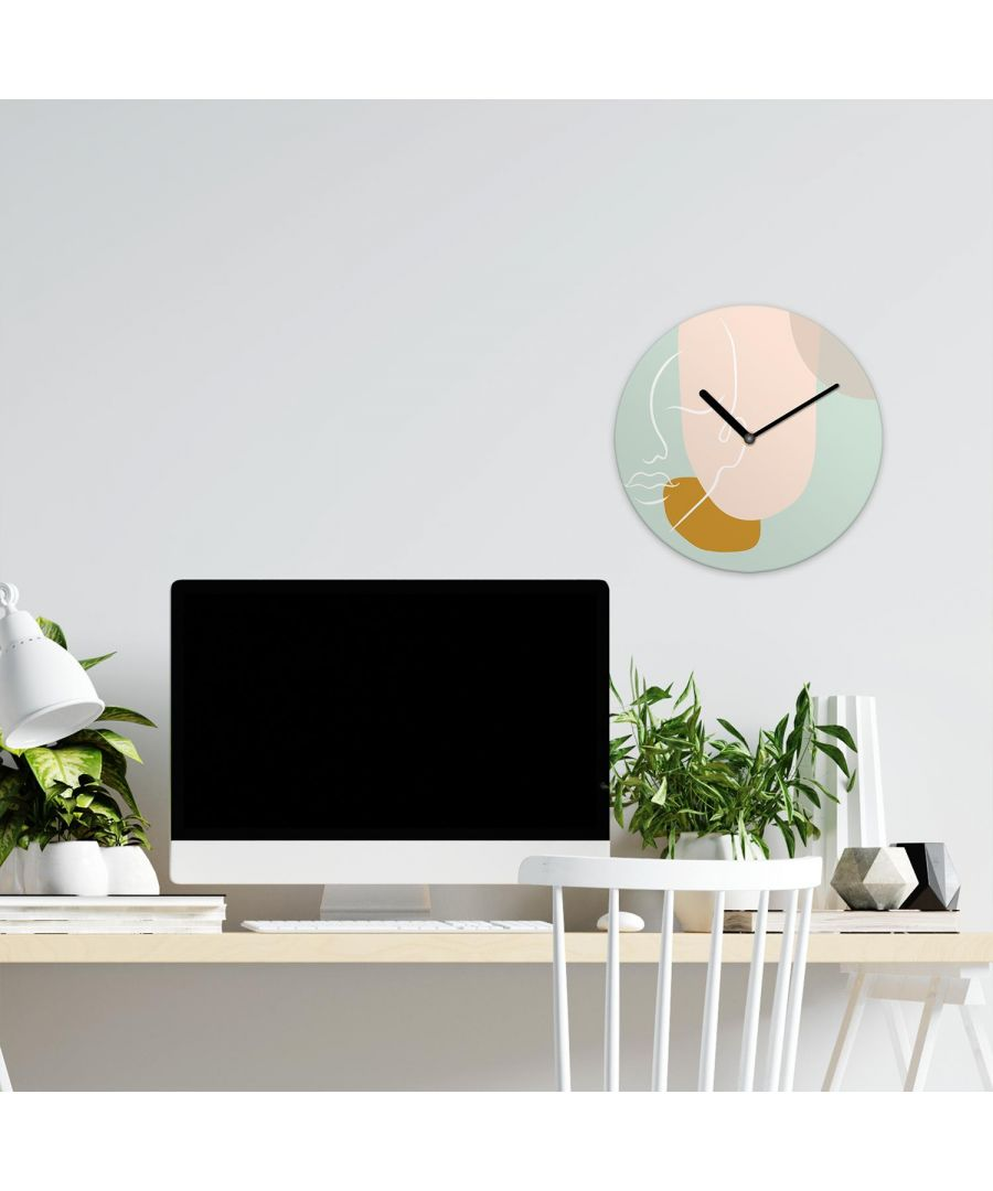Image for Modern Shapes Line Art Pastel Wall Clock wall clock, wall clock modern 30 cm x 30 cm x 2.5 cm 1 piece