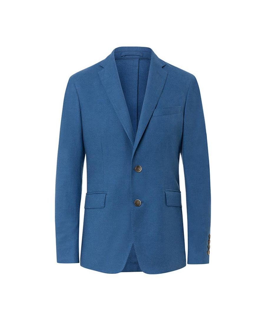 Image for Men's Hackett, Brushed Cotton Blazer in Blue
