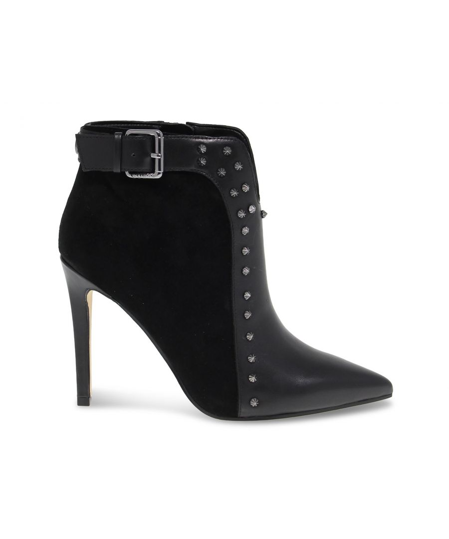 Image for GUESS WOMEN'S FL8OIEFAL09BLACK BLACK LEATHER ANKLE BOOTS