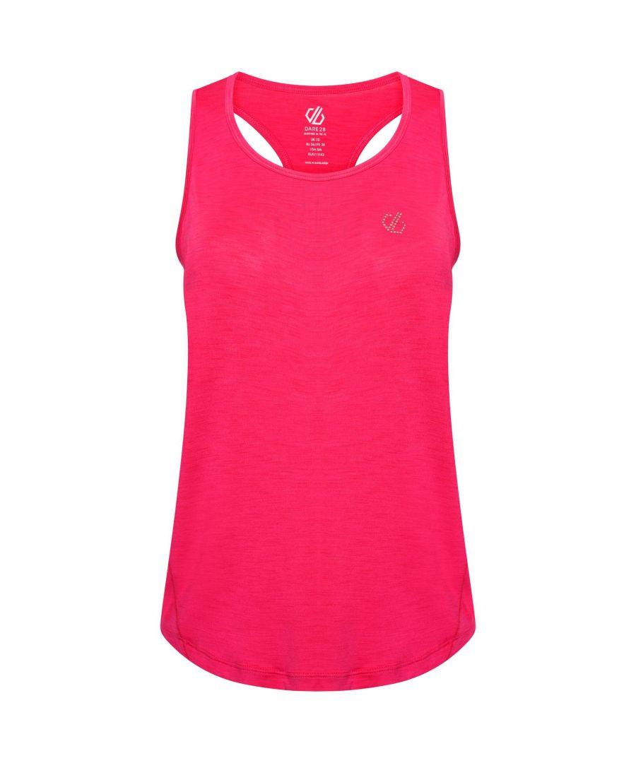 Image for Dare 2B Womens/Ladies Agleam Swarovski Vest Top (Active Pink)