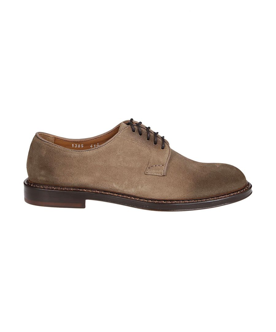 Image for DOUCAL'S MEN'S DU1385PHOEUY067MW08 BEIGE SUEDE LACE-UP SHOES
