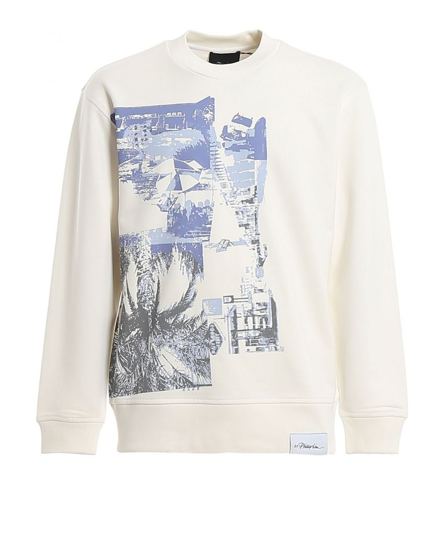 Image for 3.1 PHILLIP LIM MEN'S S2021458LWPMWH159 WHITE COTTON SWEATSHIRT