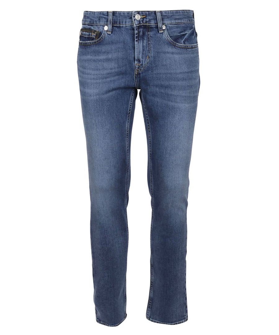 Image for 7 FOR ALL MANKIND MEN'S JSD4L39AEMMIDBLUE BLUE COTTON JEANS