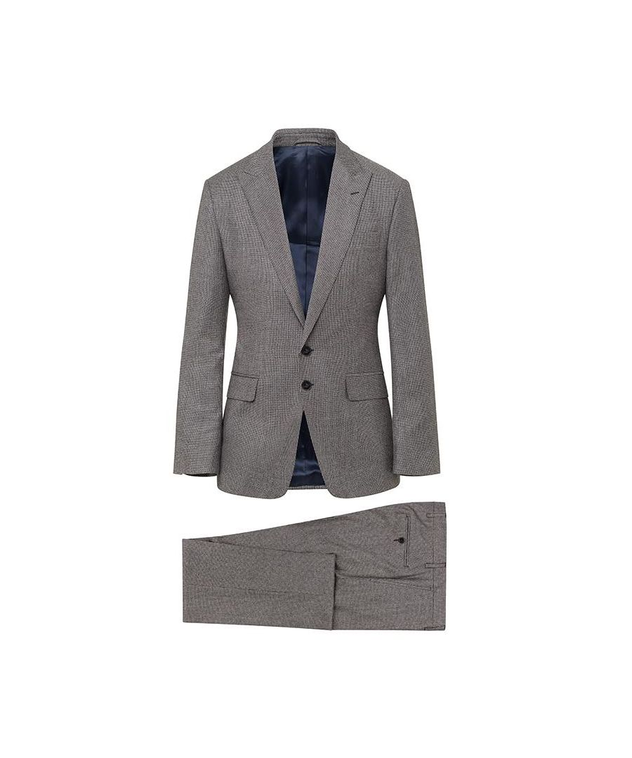 Image for Men's Hackett Flannel Puppytooth Suit, Multi-coloured