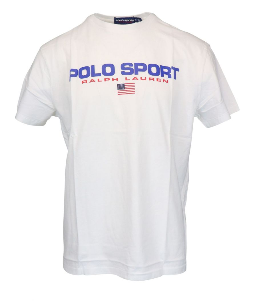 Image for RALPH LAUREN MEN'S 710750444002 WHITE COTTON T-SHIRT