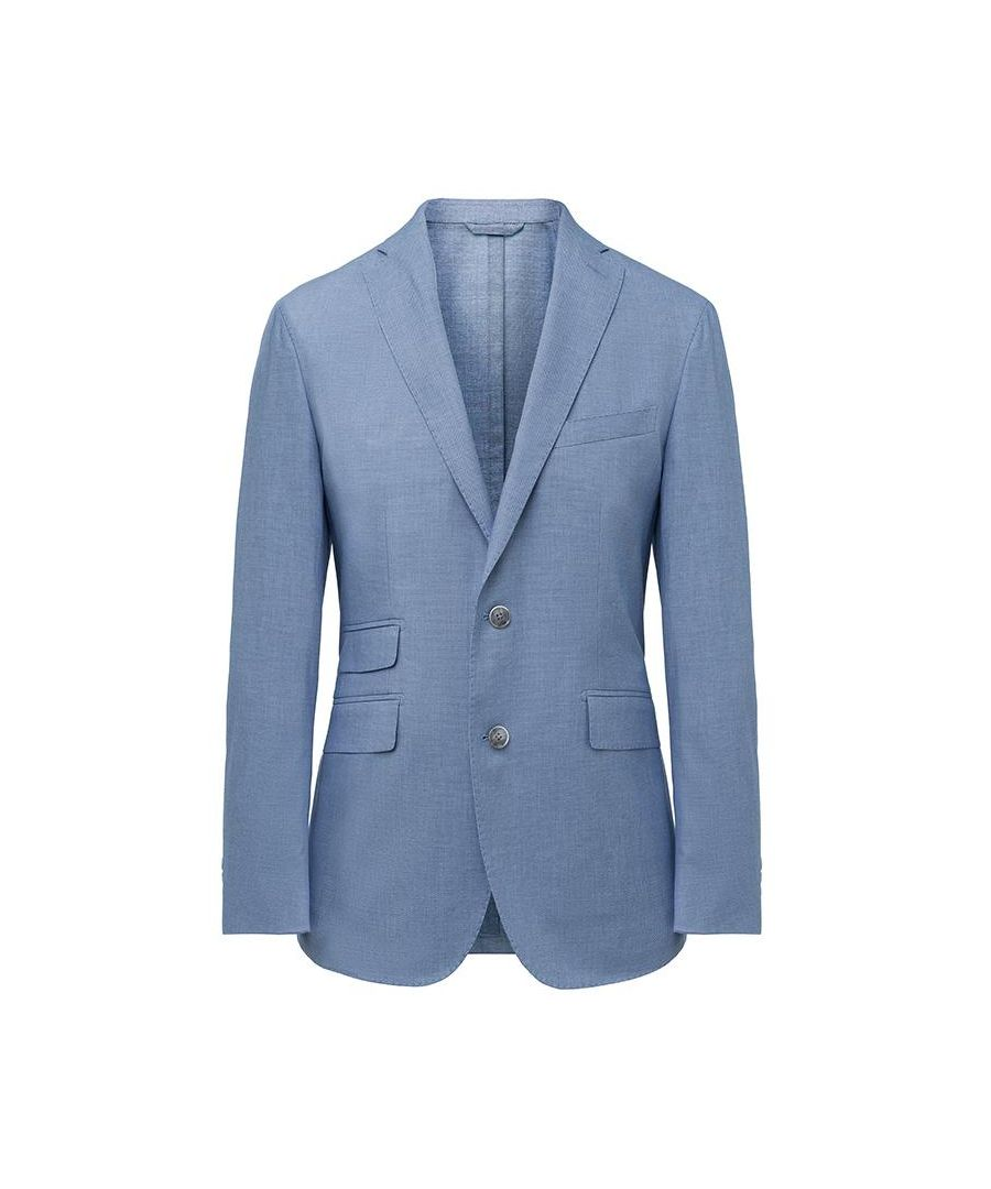 Image for Men's Hackett, Stretch Birdseye Jacket in Blue & White
