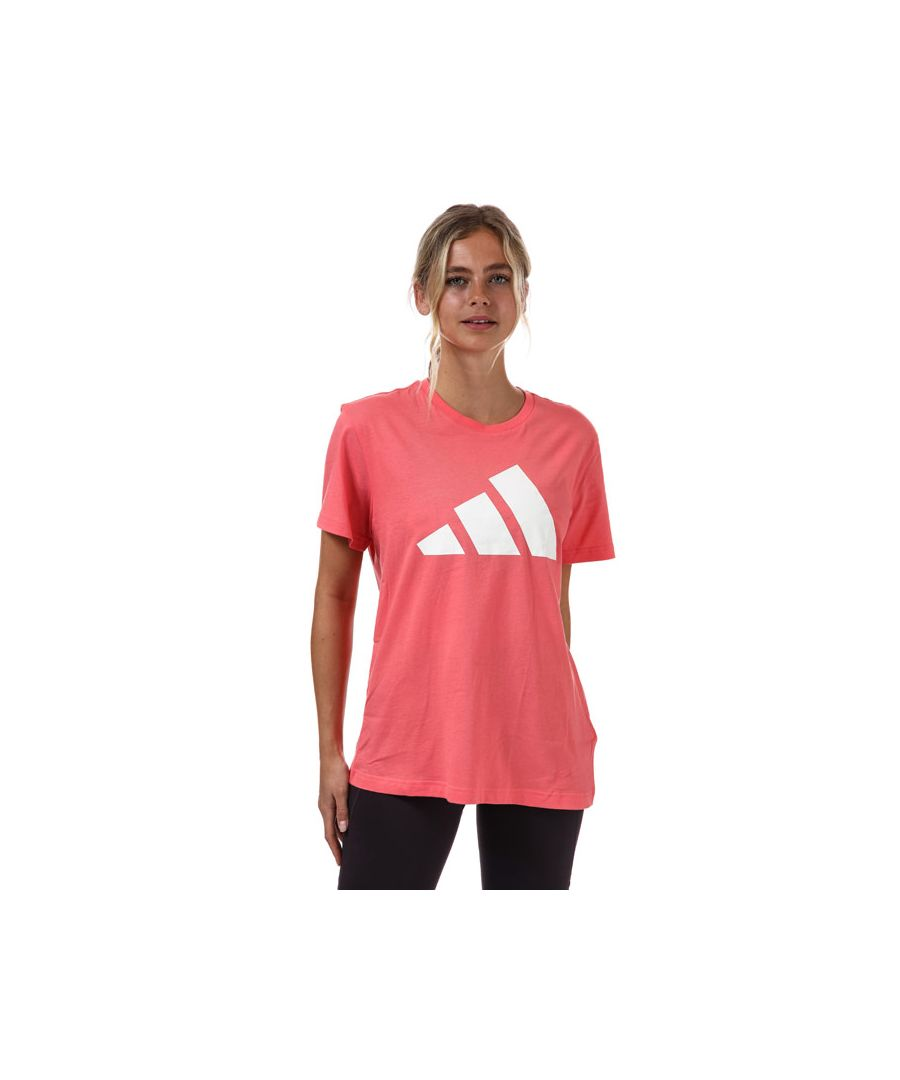 Image for Women's adidas Logo T-Shirt in Coral