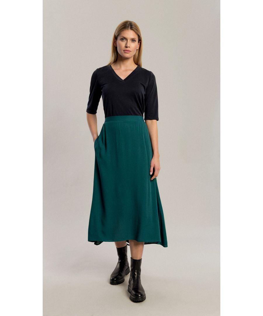 Image for Lauren Bottle Green Skirt
