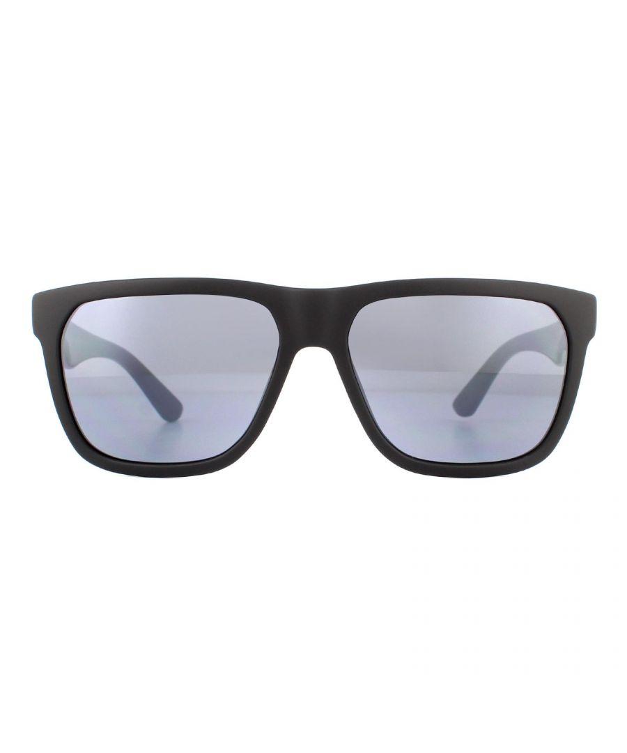 Image for Lacoste Sunglasses L732S 002 Matte Black and White Grey