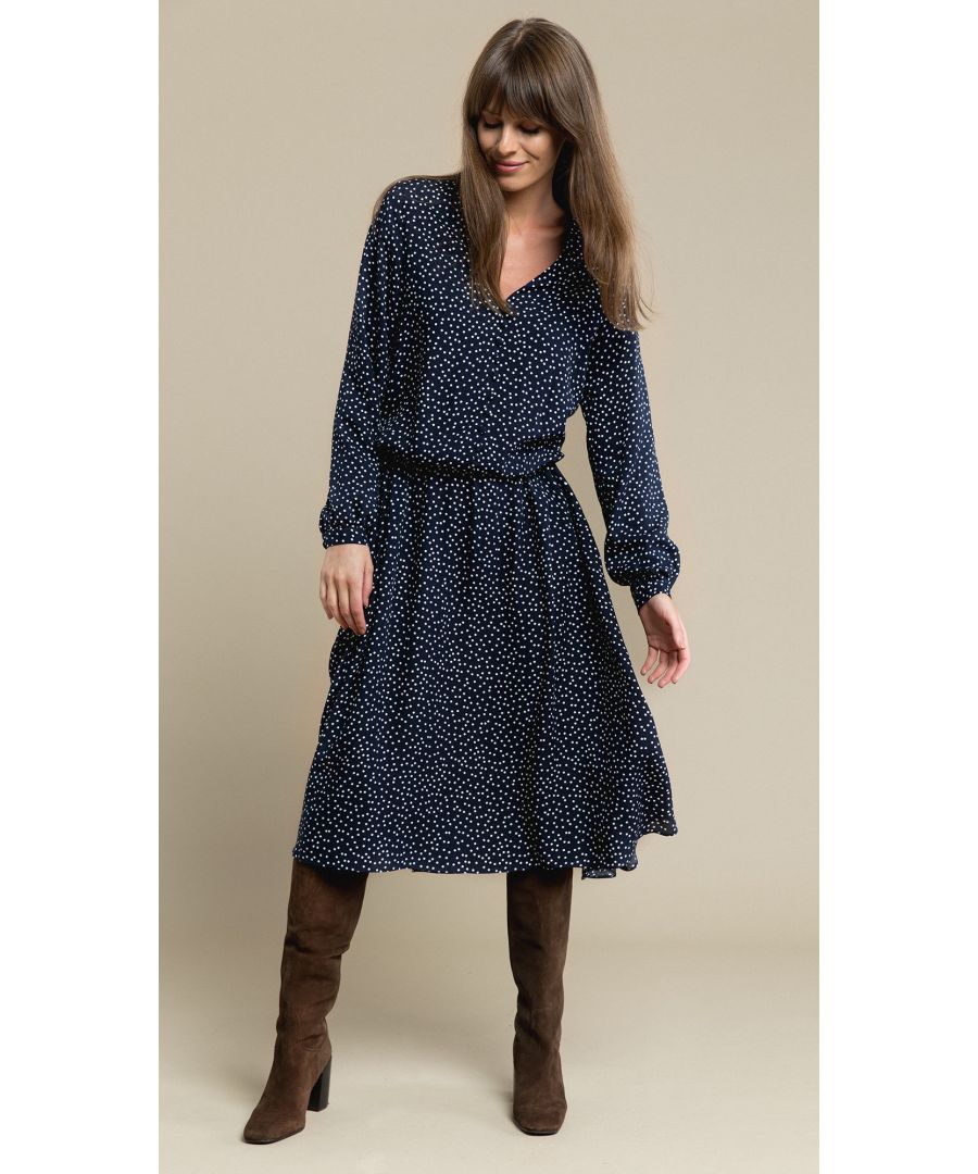 Image for Alice Dotted Navy Dress