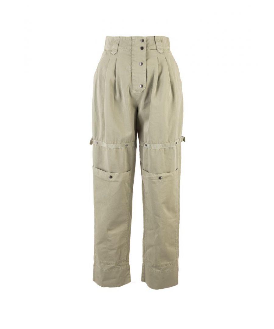 Image for ETRO WOMEN'S 1332795350500 GREEN COTTON PANTS