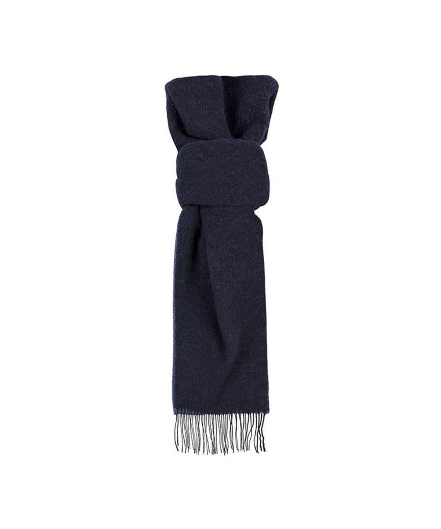 Image for Men's Hackett, Double Face WL Scarf in Navy & Blue