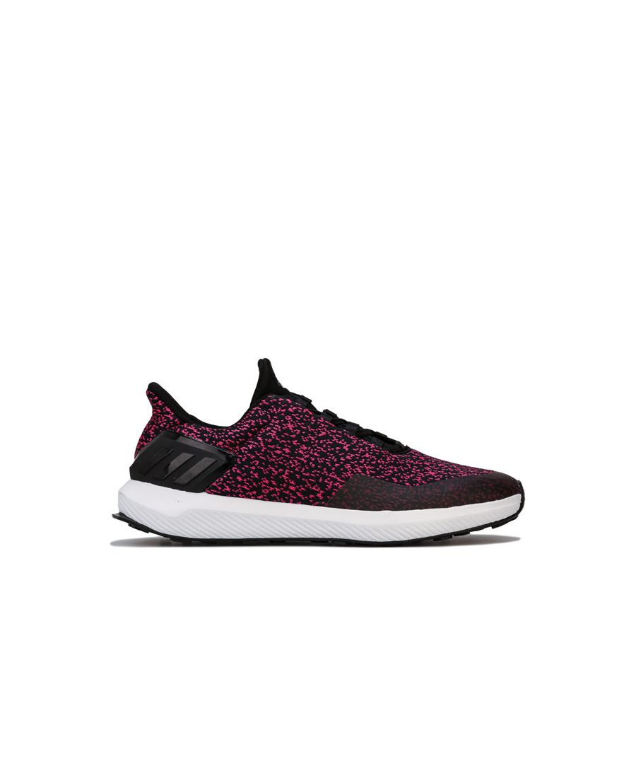 Image for Girl's adidas Junior RapidaRun Uncaged Trainers in black pink
