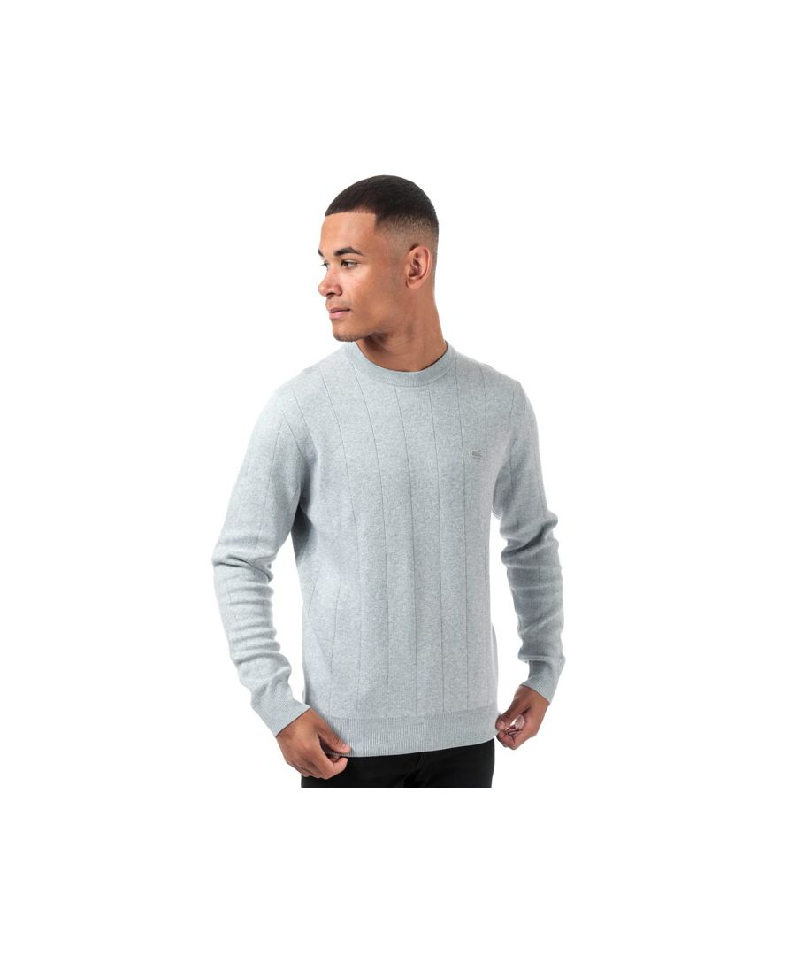 Image for Men's Lacoste Crew Neck Cotton And Cashmere Sweatshirt in Grey