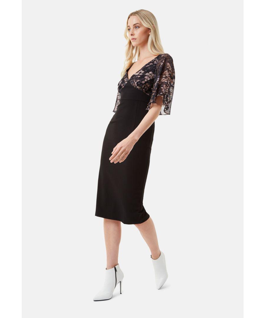 Image for Wiggle and Smile Midi Chiffon Dress