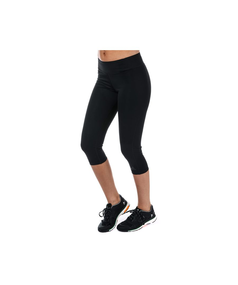 Image for Women's adidas Workout 3 Quarter Tights in Black