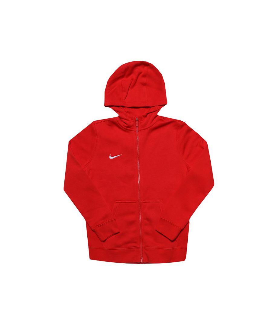 Image for Boys' Nike Junior Team Zip Hoodie in Red
