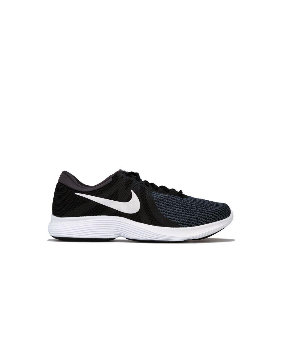 Image for Men's Nike Revolution 4 Trainers in Black